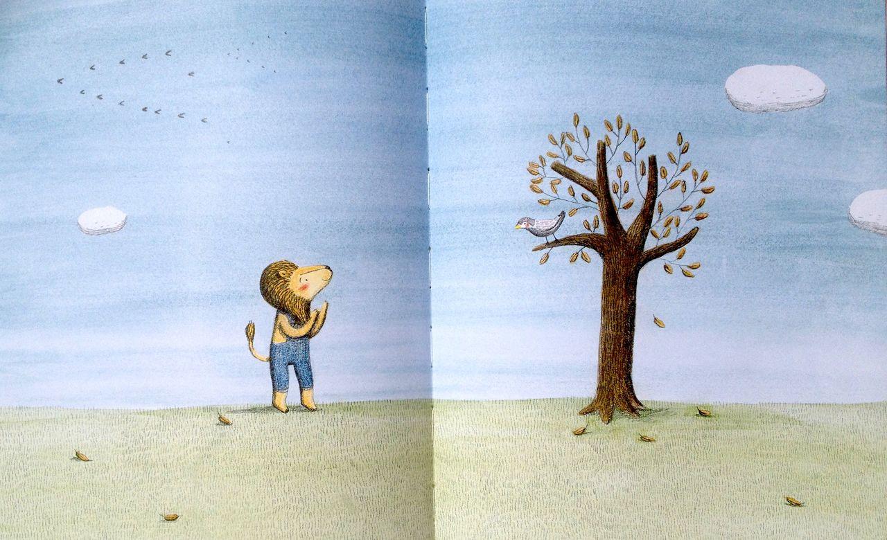 Marianne Dubuc, Il leone e l'uccellino, Orecchio acerbo