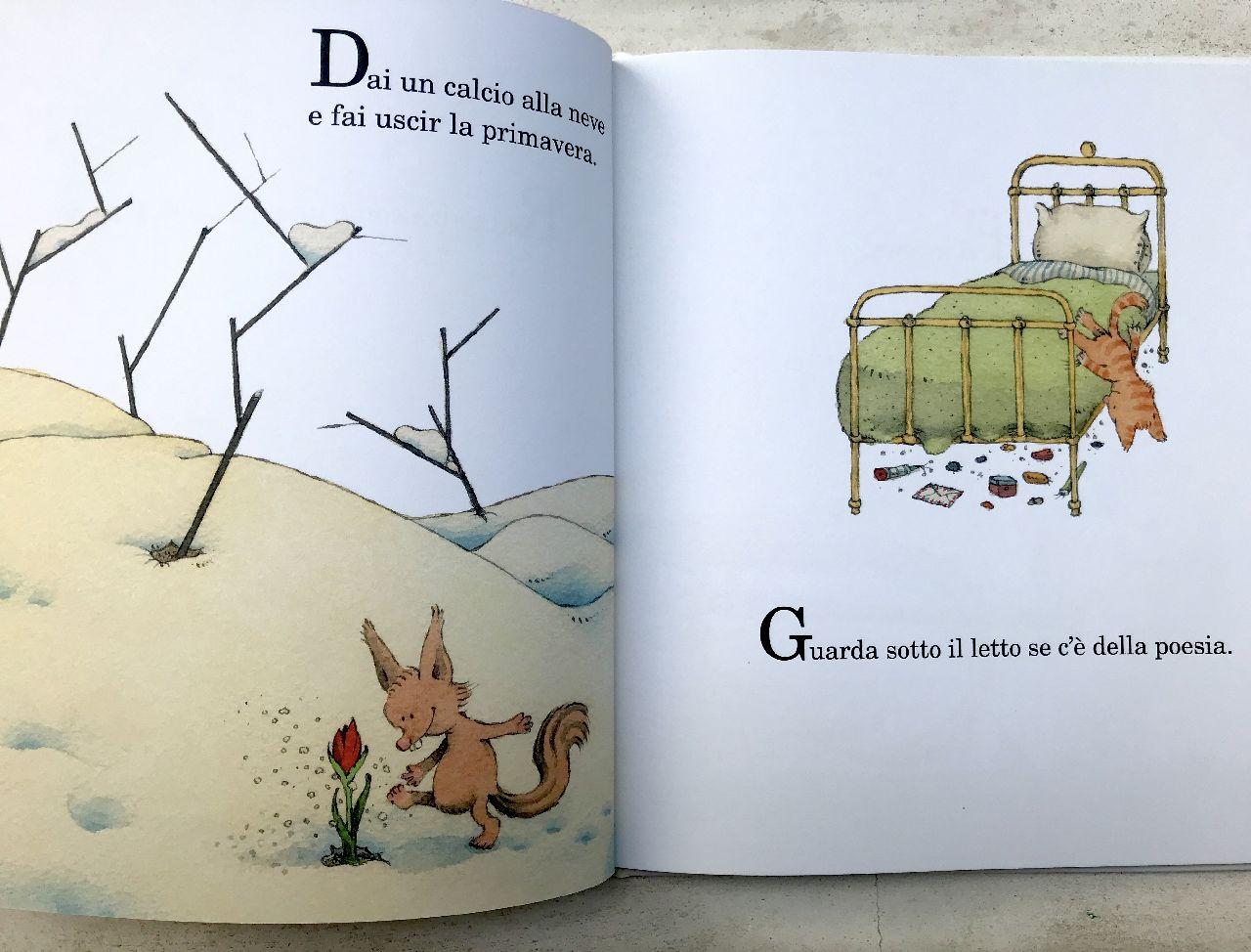 Ruth Krauss - Sergio Ruzzier, Guarda sotto il letto se c'è della poesia, Topipittori